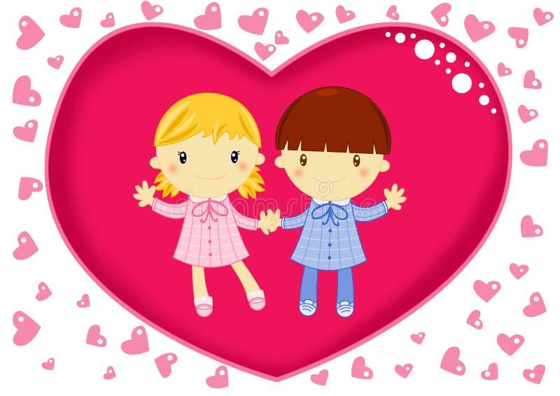 Miłość przy szkołą royalty ilustracja