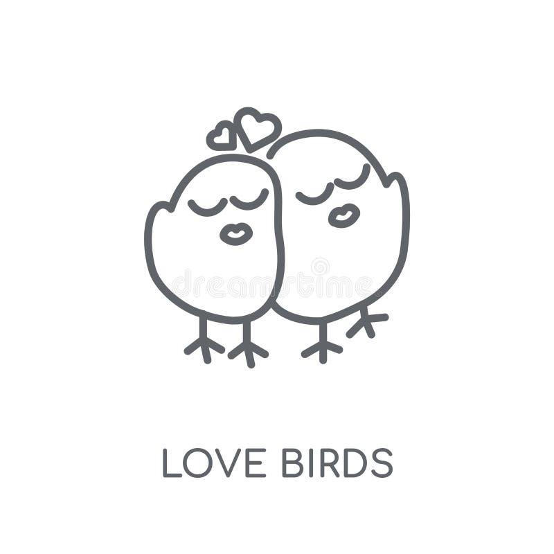 Miłość ptaków liniowa ikona Nowożytny kontur miłości ptaków logo pojęcie o ilustracja wektor