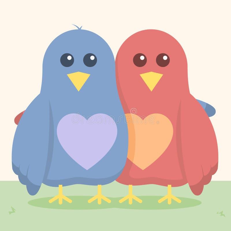 Miłość Ptaki ilustracji