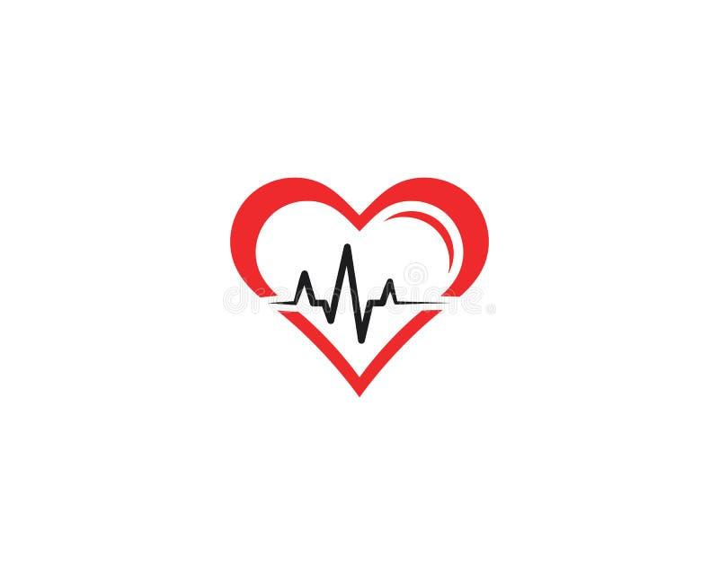 miłość pulsu linii logo ikona ilustracji