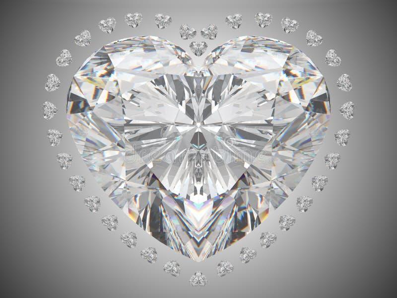 miłość rżnięty diamentowy kierowy wielki luksus royalty ilustracja