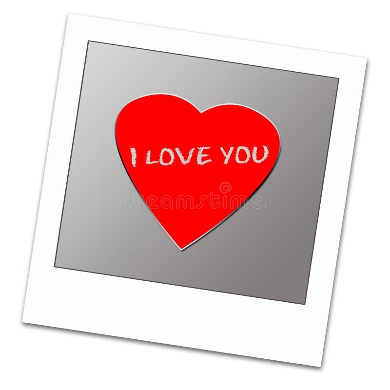 miłość ramowy polaroid ilustracja wektor