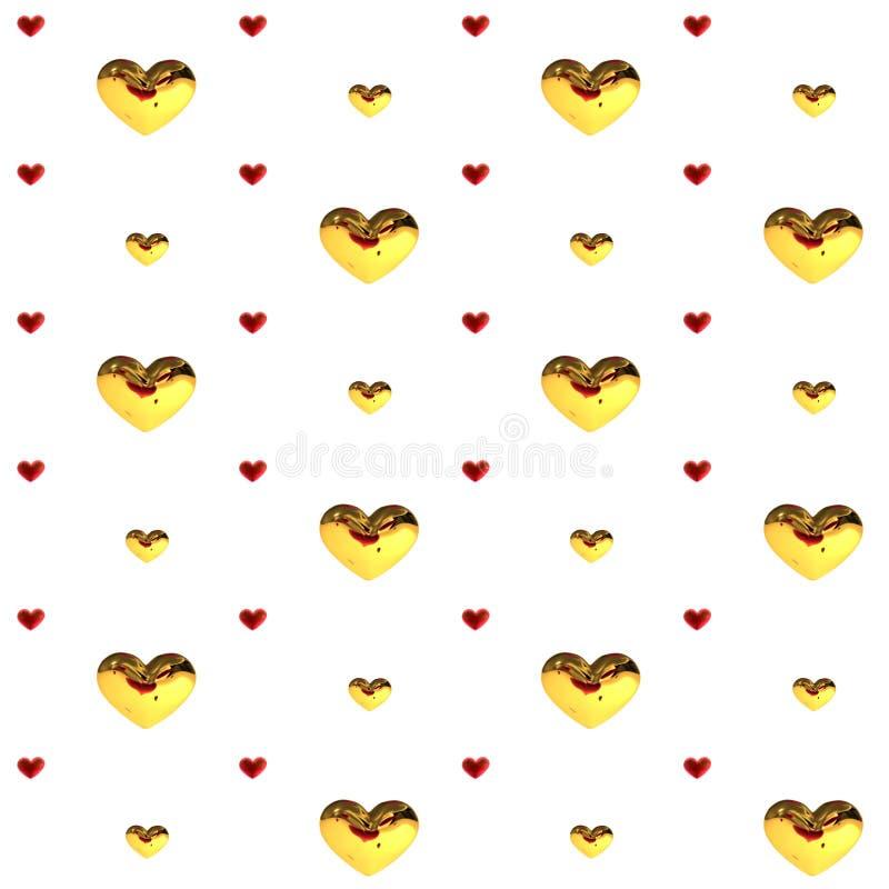 Miłość serc dekoraci menchii czerwień multicolor Romantyczny szczęśliwy radości związek Walentynka dnia wzoru pojęcie royalty ilustracja