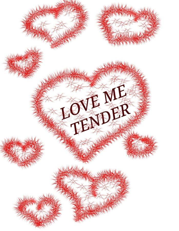 Miłość serc Doodles projekta walentynki s dnia nakreślenie Kocha ja czuły royalty ilustracja