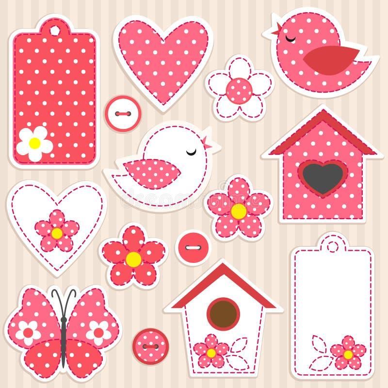 miłość set ilustracja wektor