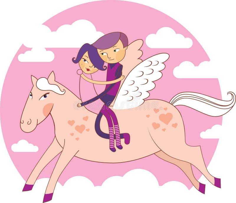 miłość skrzydła ilustracja wektor