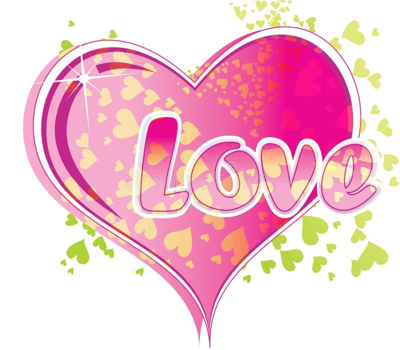 miłość tekst royalty ilustracja