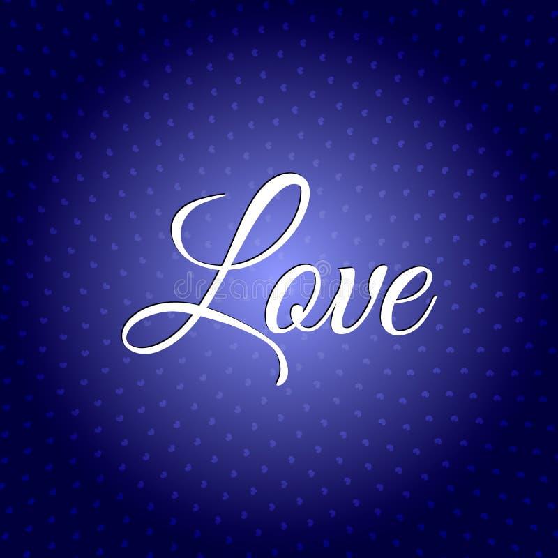Miłość tekst Ilustracja Szczęśliwy Valentins ` s dzień 14th Luty ilustracja wektor