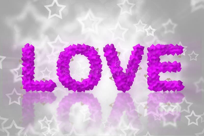 Download Miłość tekst robić serce ilustracji. Ilustracja złożonej z sztandar - 28964710
