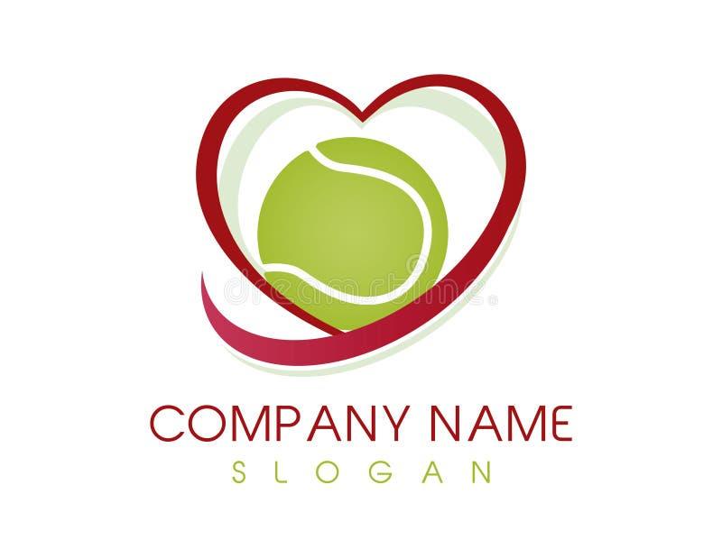 Miłość tenisa logo royalty ilustracja