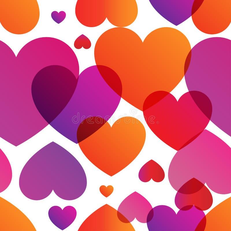 Miłość Właściwie wektorowy kolorowy modny bezszwowy wzór royalty ilustracja