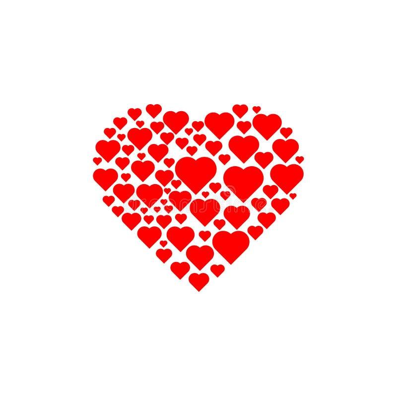 Miłość wśrodku wiele miłość obraz royalty free