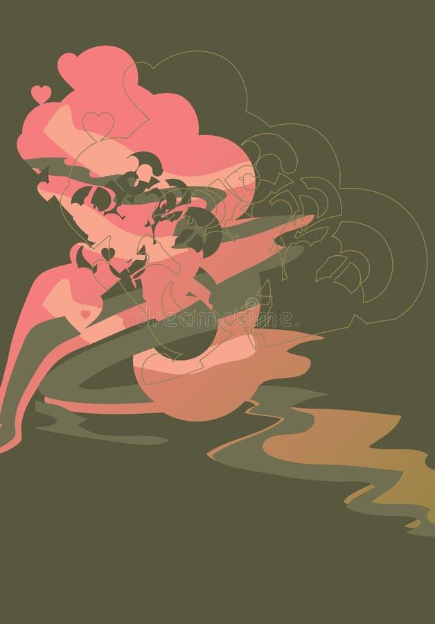 miłość walka montaż ilustracji
