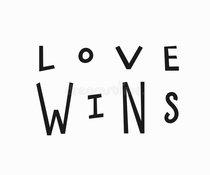 Miłość wygran koszulki wycena literowanie royalty ilustracja