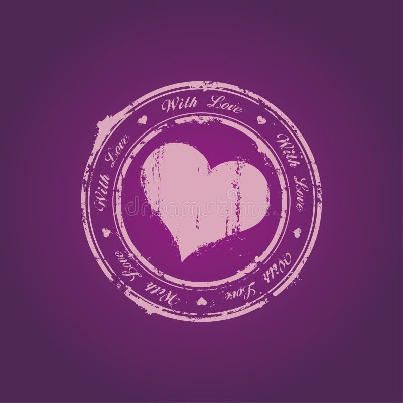 miłość znaczek ilustracja wektor