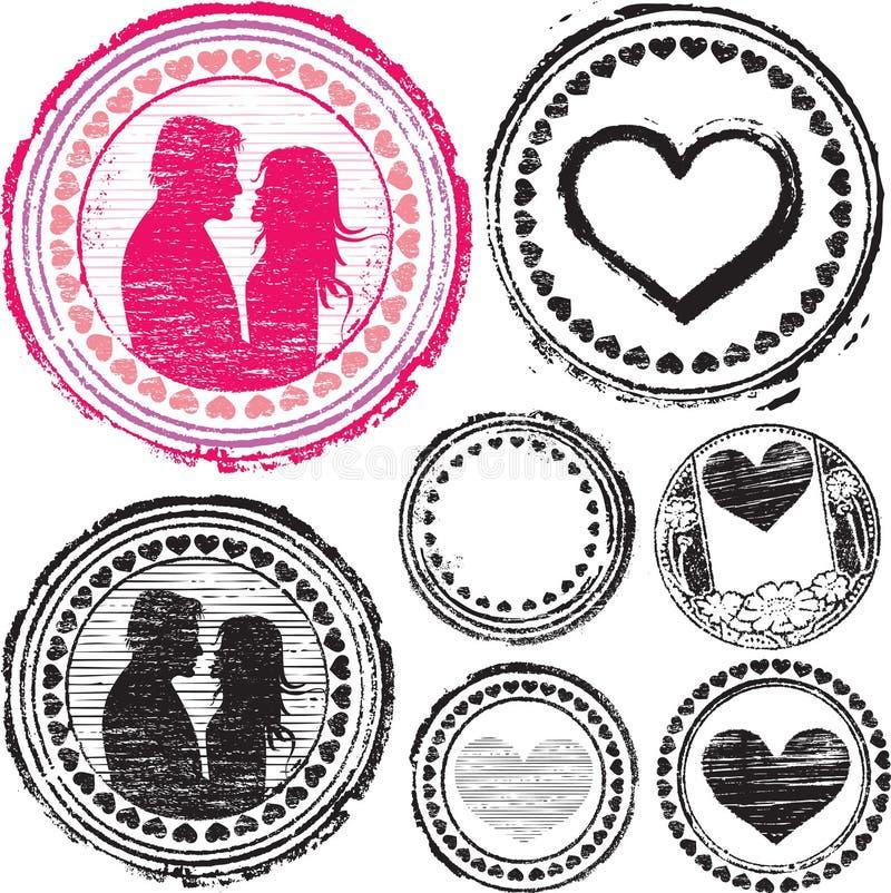 miłość znaczek ilustracji