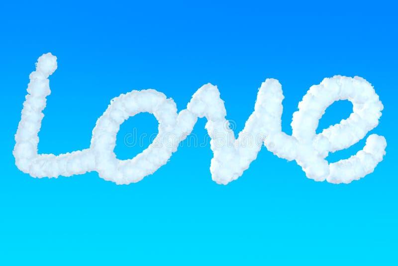 Miłość znak od chmur royalty ilustracja