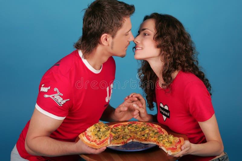 miłości (1) pizza zdjęcie stock