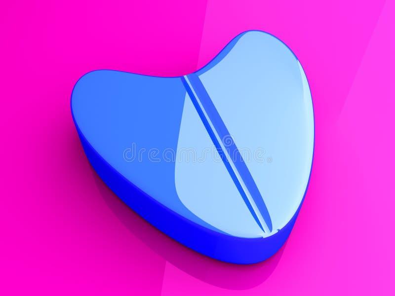miłości błękitny pigułka royalty ilustracja