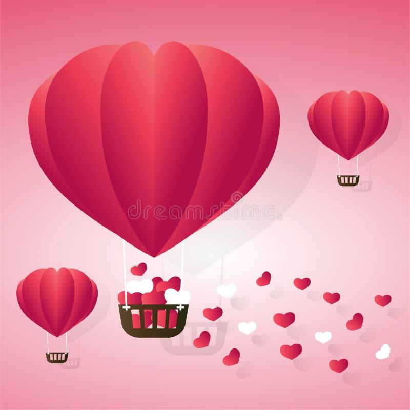 Miłości ballon RGB royalty ilustracja
