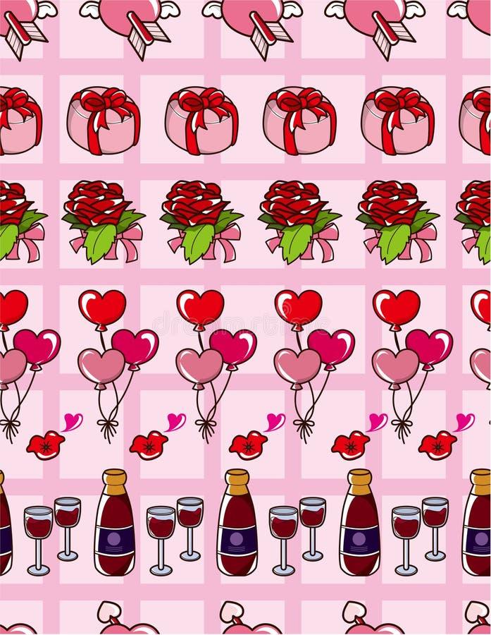 miłości bezszwowy deseniowy ilustracji