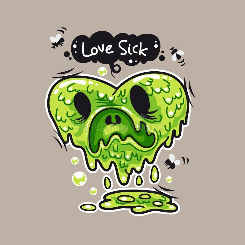 miłości choroba ilustracji