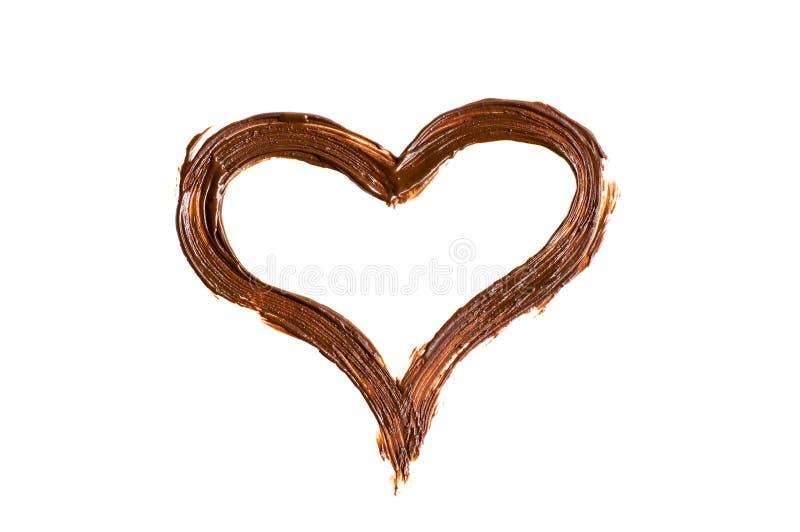 miłości czekoladowa wiadomość fotografia royalty free