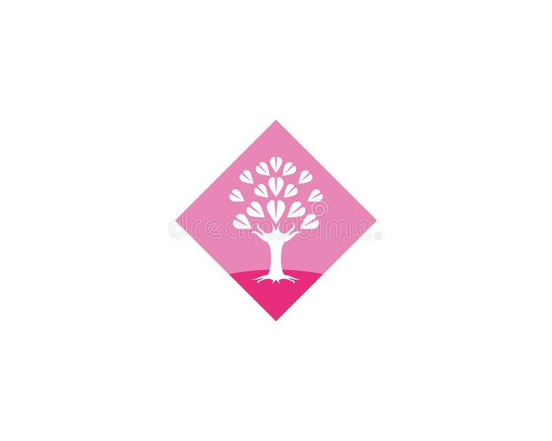 Miłości drzewa ikony vectorillustration royalty ilustracja