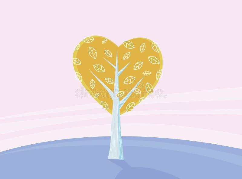 miłości drzewa valentines ilustracji