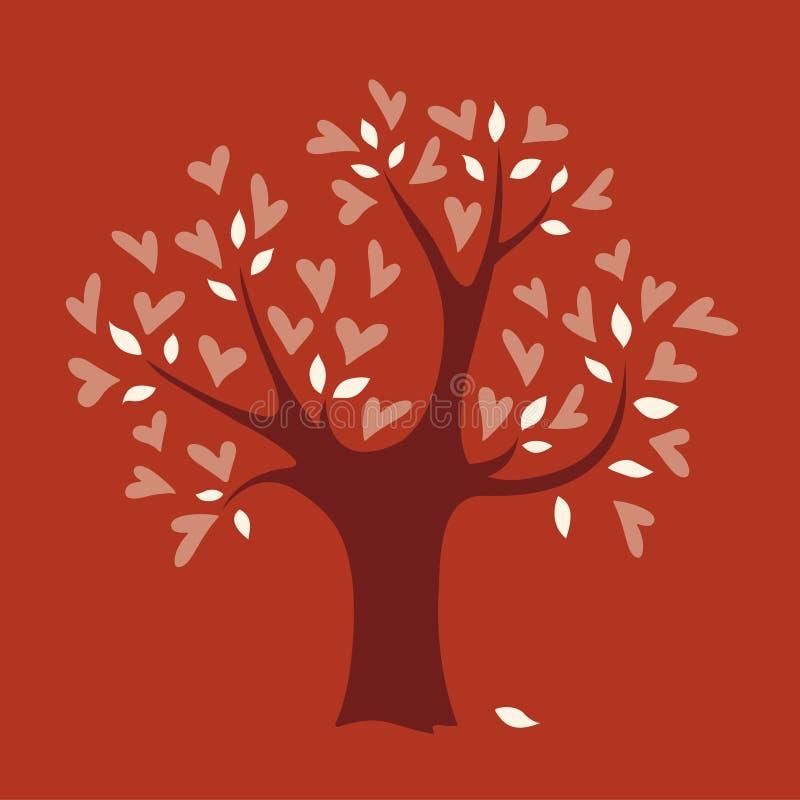 miłości drzewa wektor ilustracji