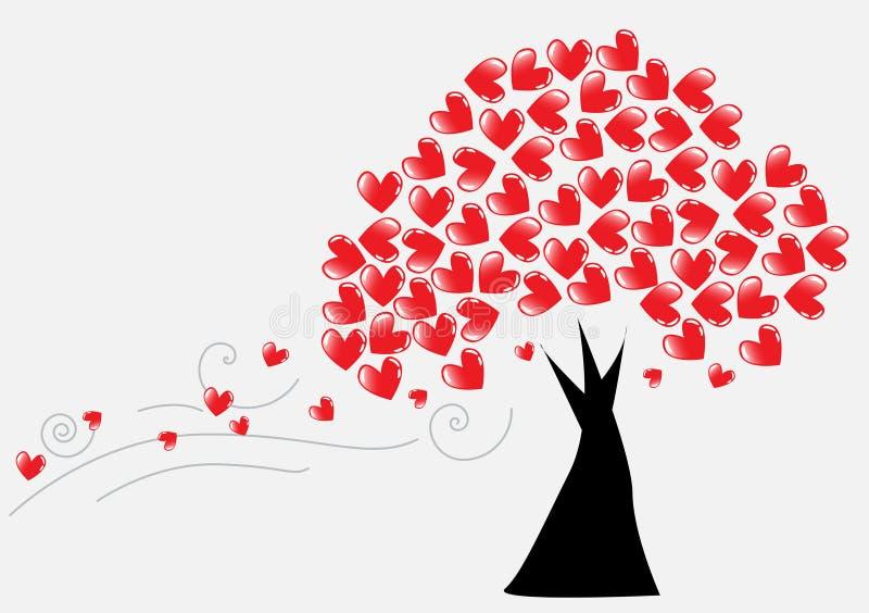 miłości drzewo ilustracji