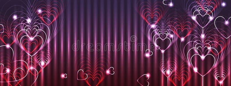 Miłości dziewięć sztandaru kolorowy skutek royalty ilustracja