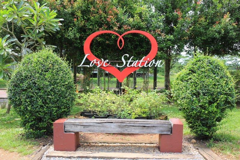 Miłości fotografii Stacyjna lokacja zdjęcie stock