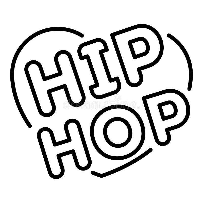 Miłości hip hop kierowa ikona, konturu styl royalty ilustracja