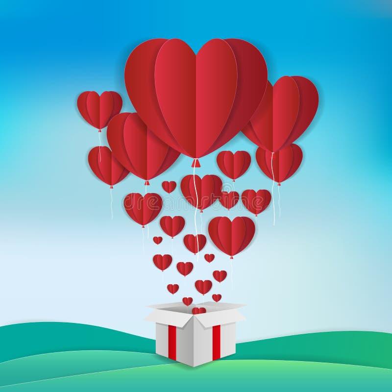 Miłości i Valentine's dnia tematu tło Rewolucjonistka szybko się zwiększać w hea royalty ilustracja