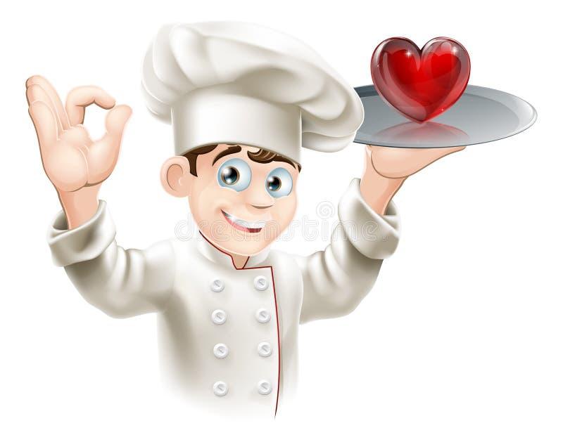 Miłości jedzenie ilustracji