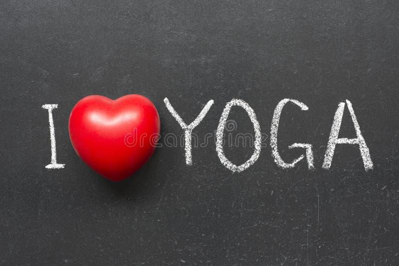 Miłości joga obraz stock
