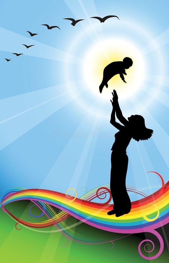 miłości kobiety rodzinne, kochanie ilustracja wektor