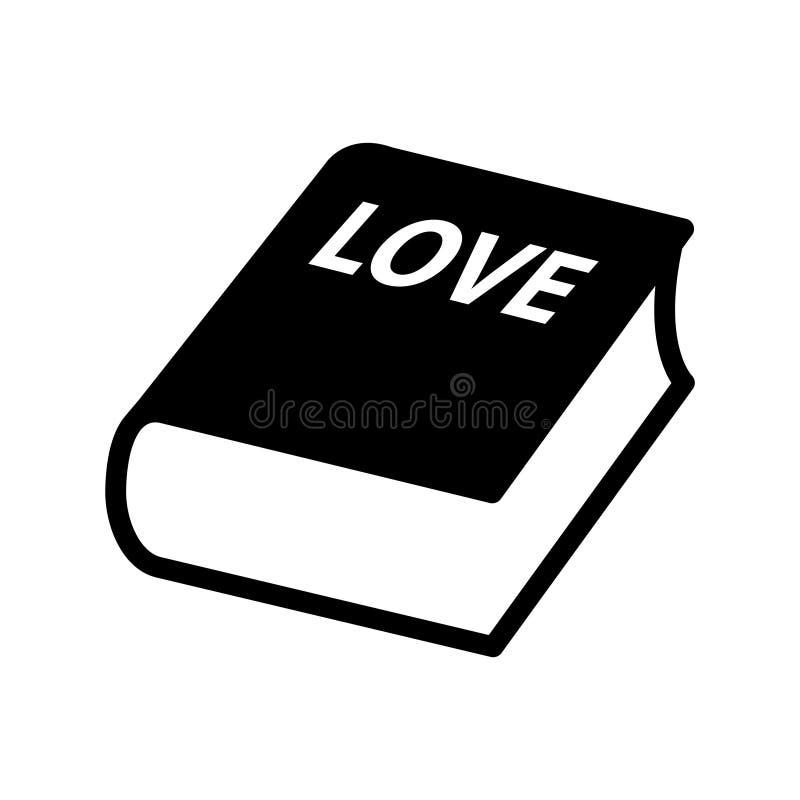 Miłości książkowa ikona, Wektorowa ilustracja ilustracja wektor