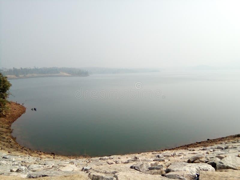 miłości kształtny jezioro obraz royalty free