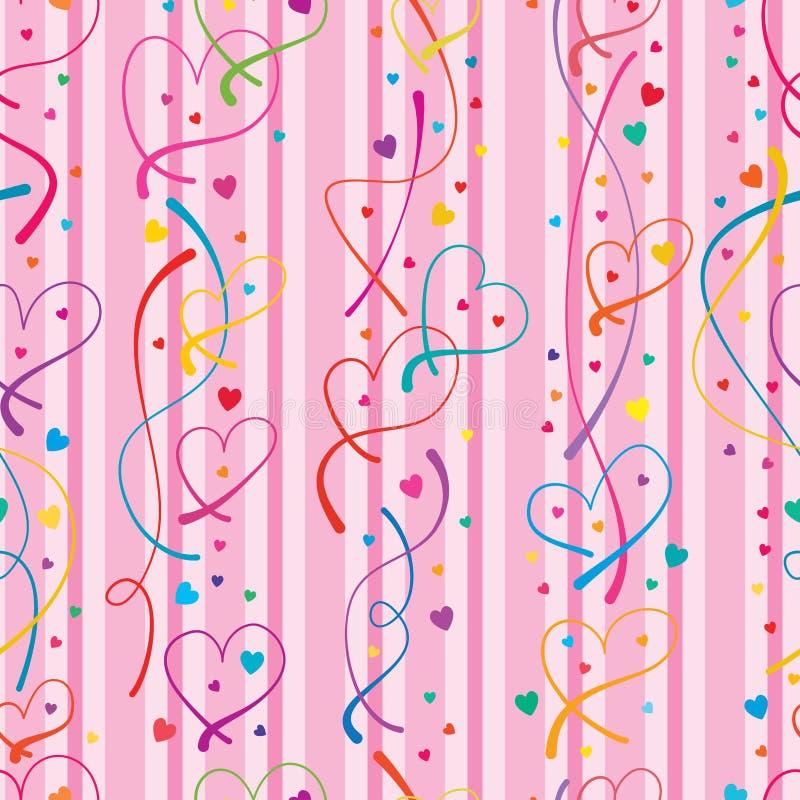Miłości linii pionowo bezszwowy wzór royalty ilustracja