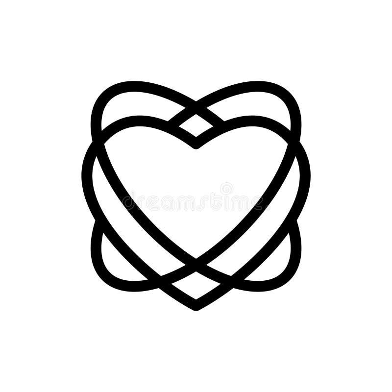Miłości linii serca lab ilustracja wektor