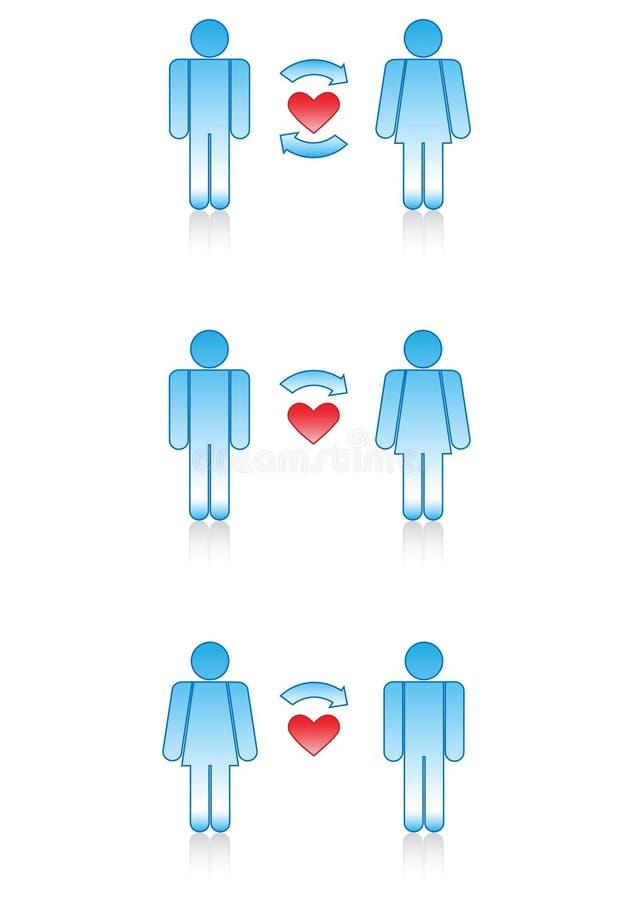 miłości mężczyzna symboli/lów kobiety royalty ilustracja