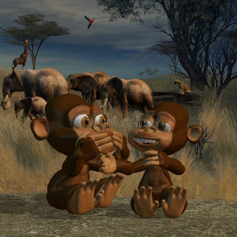 miłości małpa ilustracja wektor