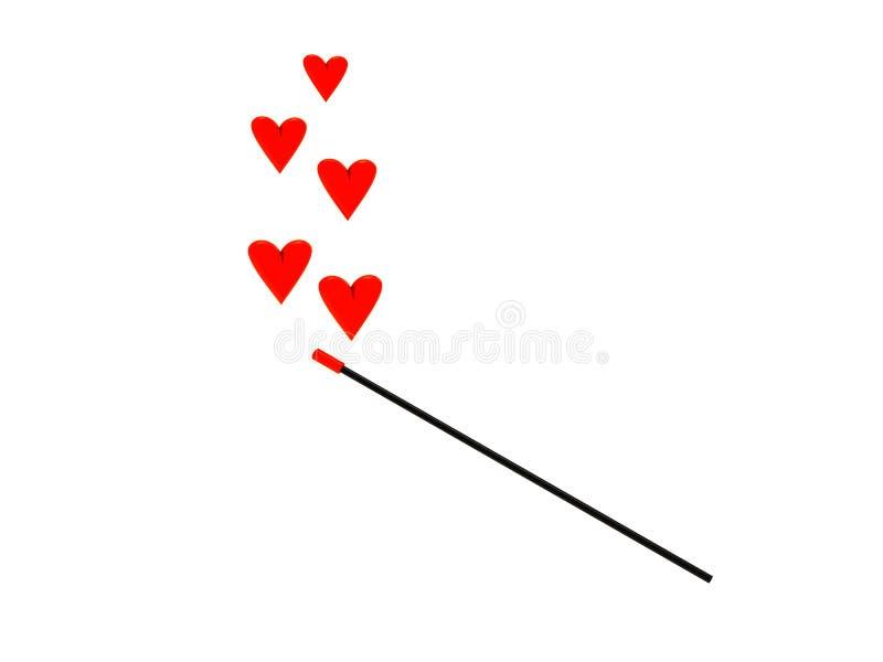 miłości magia ilustracja wektor
