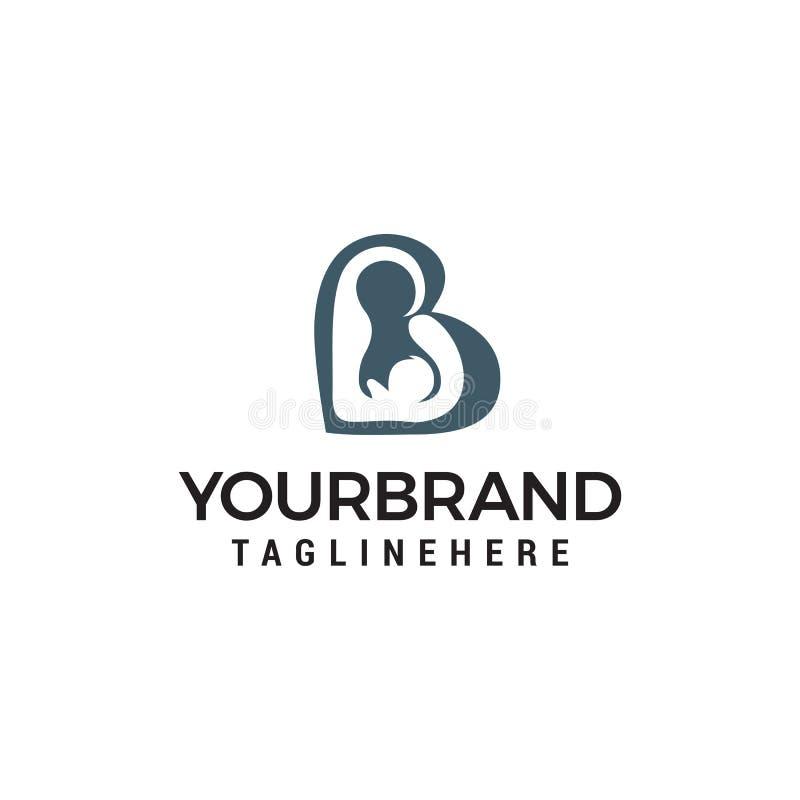 Miłości mamy dziecka logo projekta pojęcia szablon royalty ilustracja