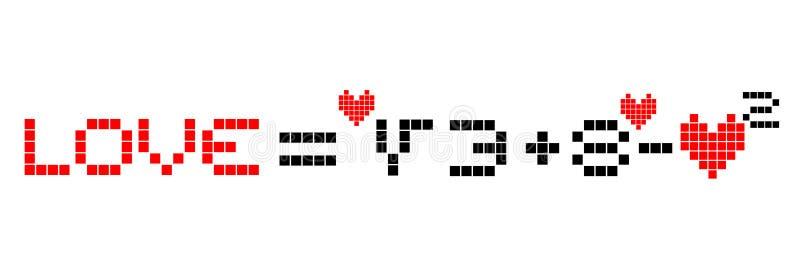 Miłości matematyka ilustracja wektor