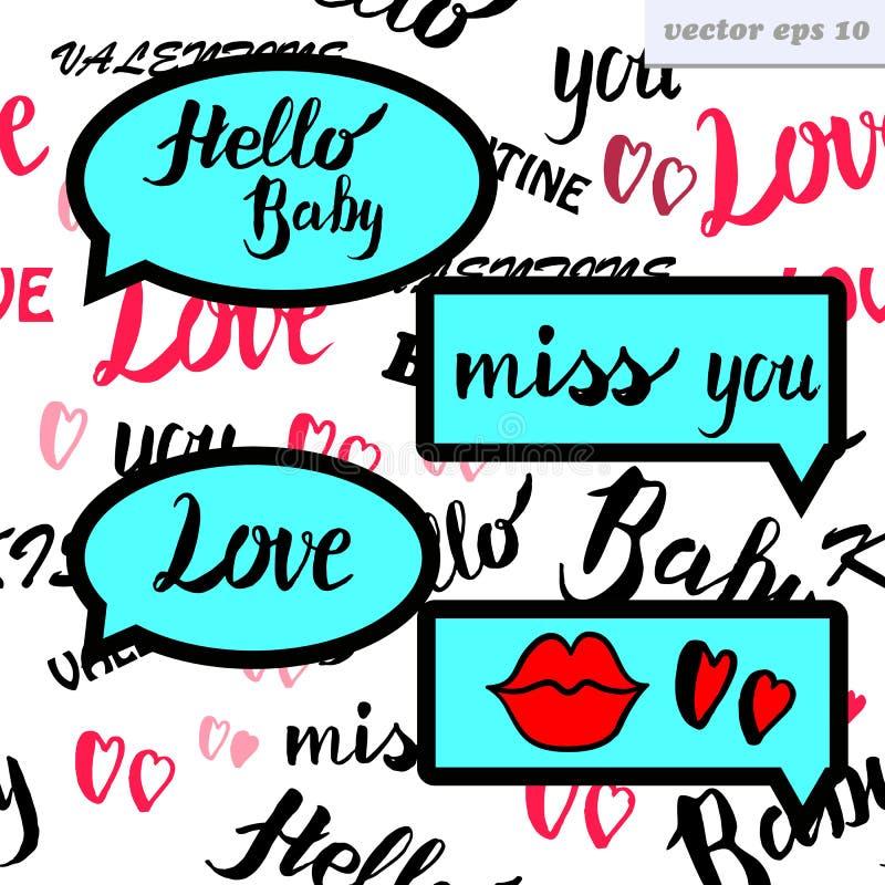 Miłości mowy bąbel ilustracji