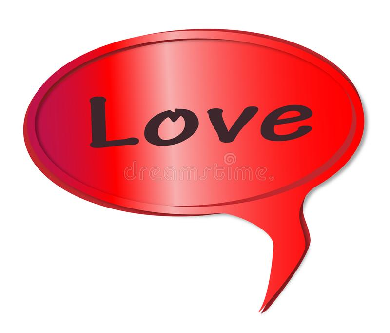 Miłości mowy bąbel ilustracja wektor