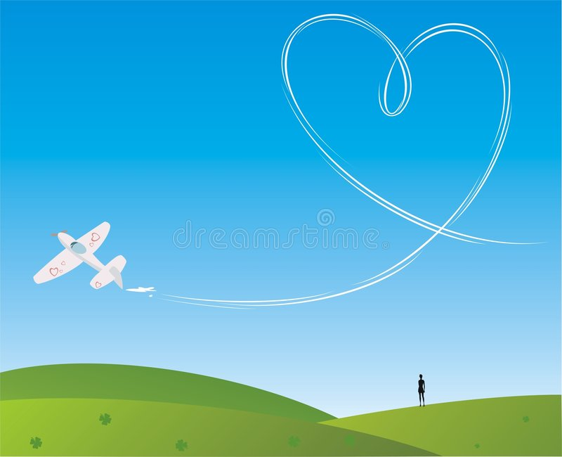 miłości niebo ilustracja wektor